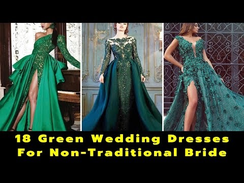 18 Green Wedding Dresses For Non Traditional Bride | Best Colorful Wedding Dresses | Bridal Gowns