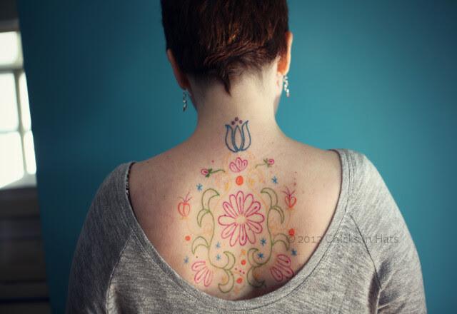 Polka & Bloom tattoo!!