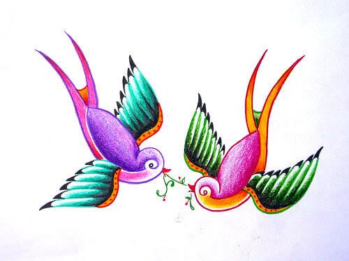 Tatuajes Y Golondrinas Significados Hamahiru Ink Estudio De