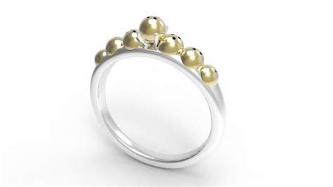 Dragon Ball Z Engagement Ring 18k Royal Gold and 14k White