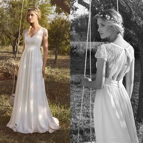 vintage boho lace wedding dress open  white bridal