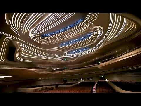 Nội thất ánh sáng chuyển động độc đáo cùa nhà hát trung tâm Meixihu Changsha