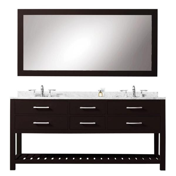 Water Creation Madalyn 60-inch Espresso Double Sink ...