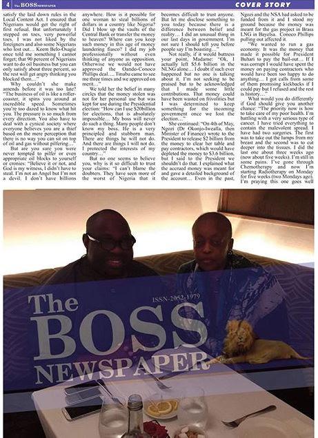 Diezani Alison-Madueke with Dele Momodu on Boss Newspaper 3