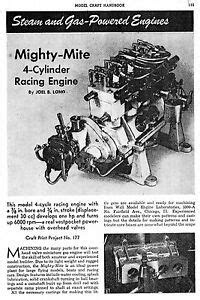 30CC Elmer Wall 4 cylinder OHV Mighty Mite gas engine you