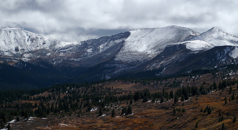 Looking east from the summit of Cottonwood Pass.