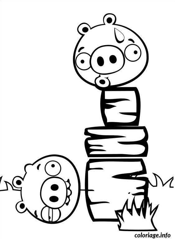 Coloriage Angry Birds Chute Du Cochon Jecoloriecom