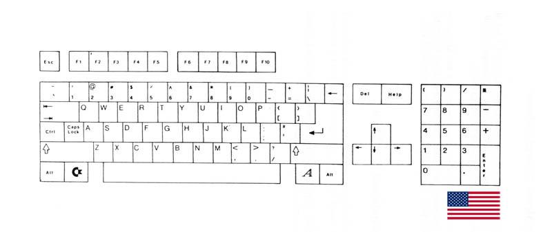 Teclado USA Amiga 500