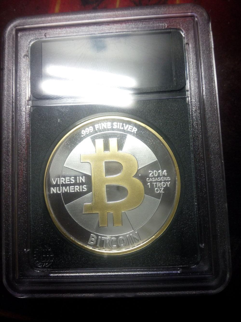 Casascius Bitcoin St. Petersburg Bowl Physical Coin - A Brief Review   Digital Money Times