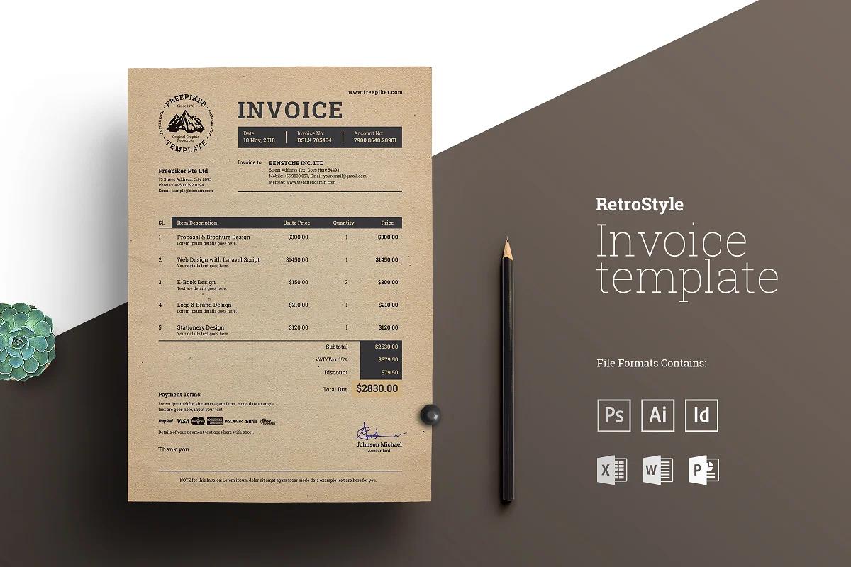 Retro Invoice