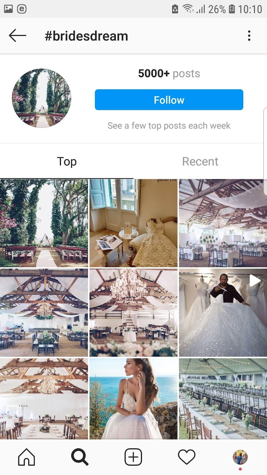Hashtags on Instagram, #BridesDream