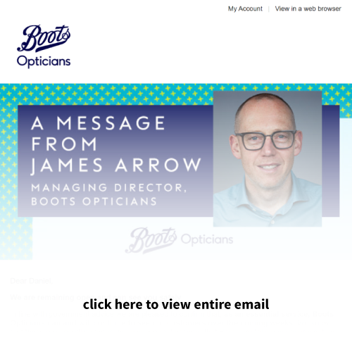 Email blast example