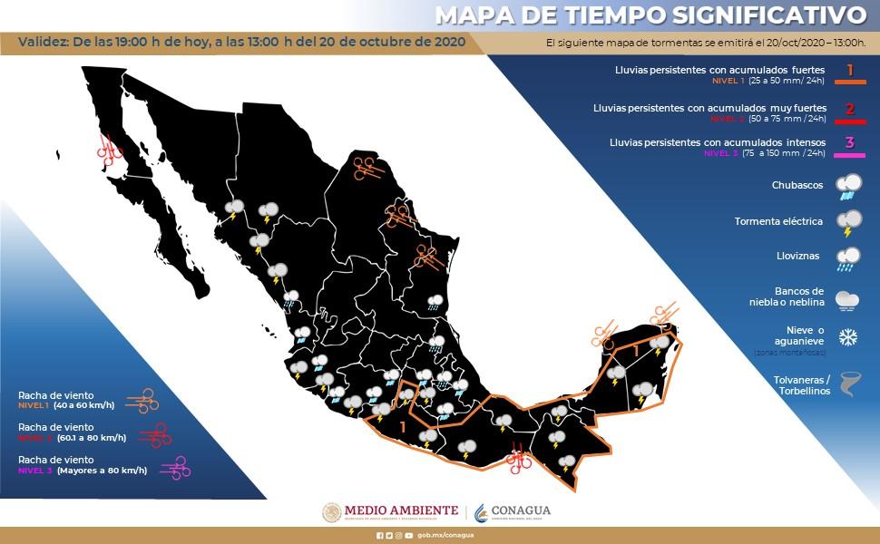 Mapa del clima en la República Mexicana