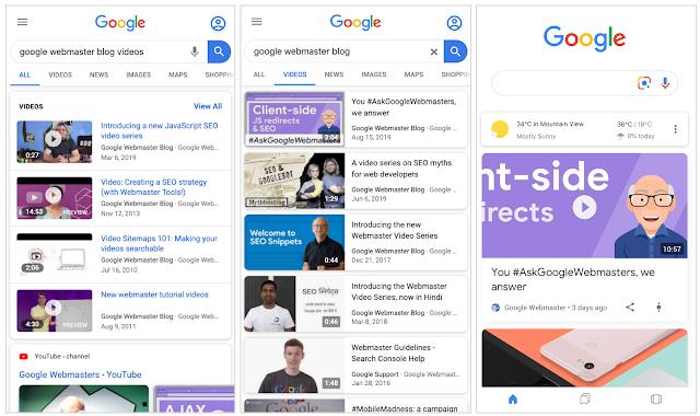 Nuevos informes para los resultados de vídeo en Google Search Console 2