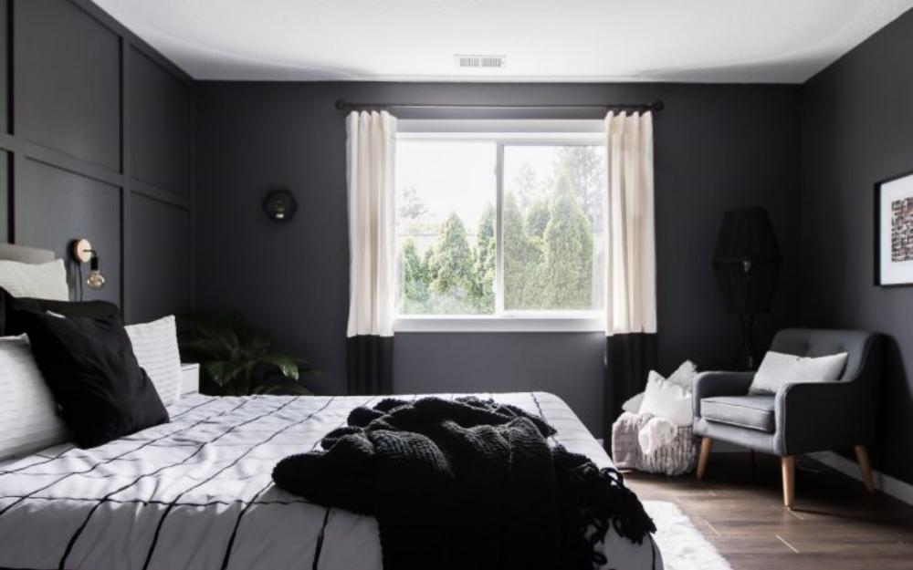 desain cat kamar tidur 2 warna