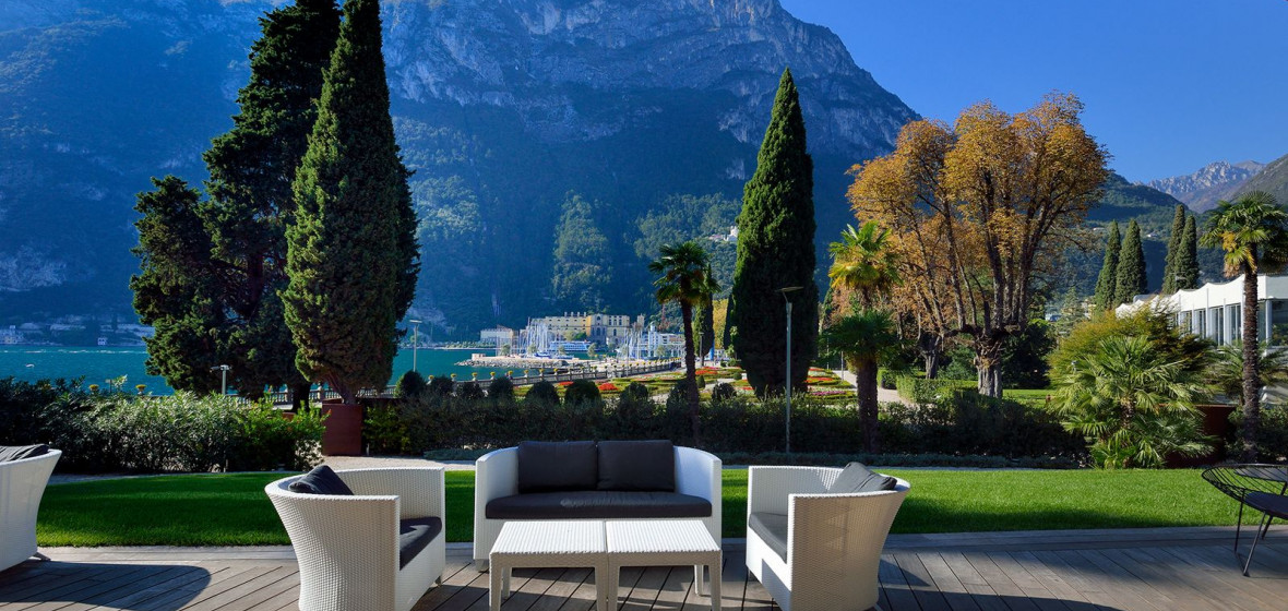 This is a photo of the view from The Lido Palace on Lake Garda