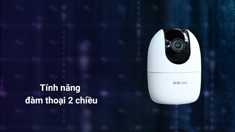 Thiết bị quan sát/ Camera KBvision KN-H21PP   Tính năng đàm thoại 2 chiều