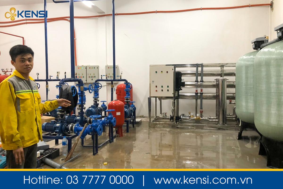 Vận hành thử hệ thống lọc nước RO 8m3 cho nhà máy thực phẩm