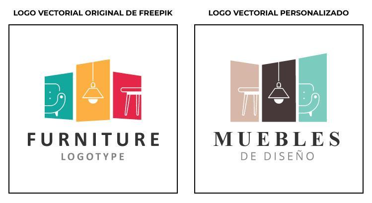 Freepik: Vector, antes y después.
