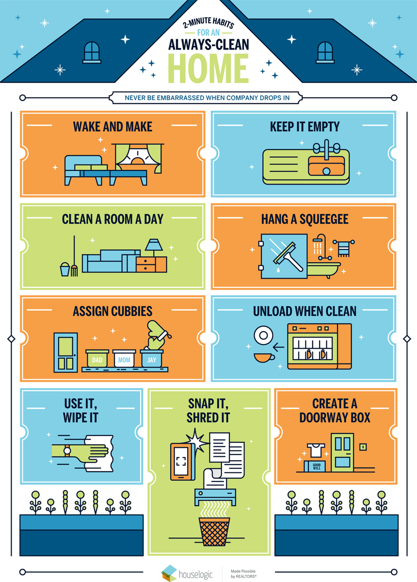 9 Easy Habits to Keep Your Home Company-Ready Clean