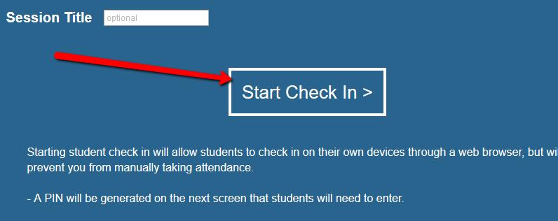 Start Check In