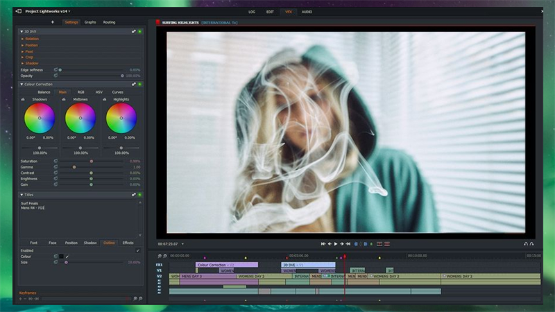 Lightworks - Phần mềm tạo hiệu ứng video
