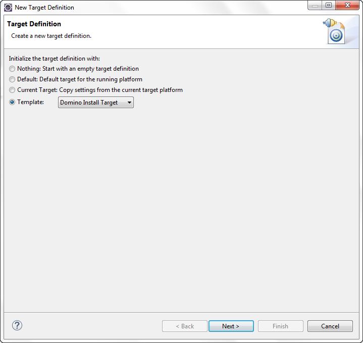 Configure target definition