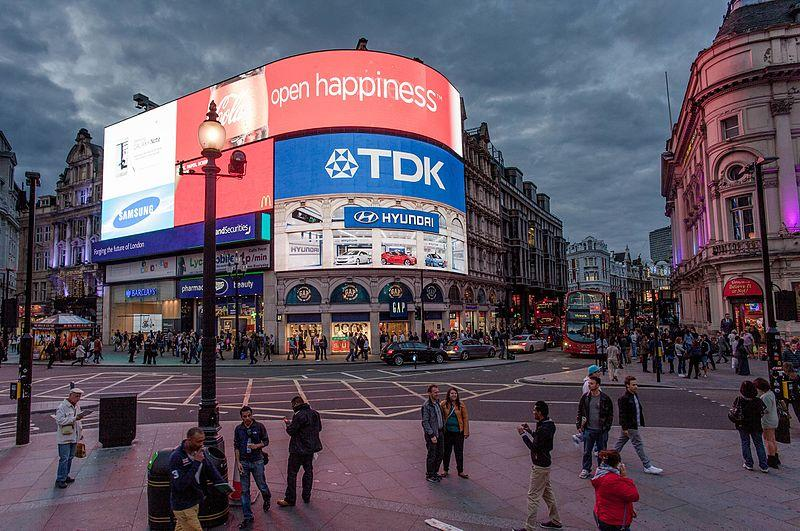 File:Open Happiness Piccadilly Circus Blue-Pink Hour 120917-1126-jikatu.jpg