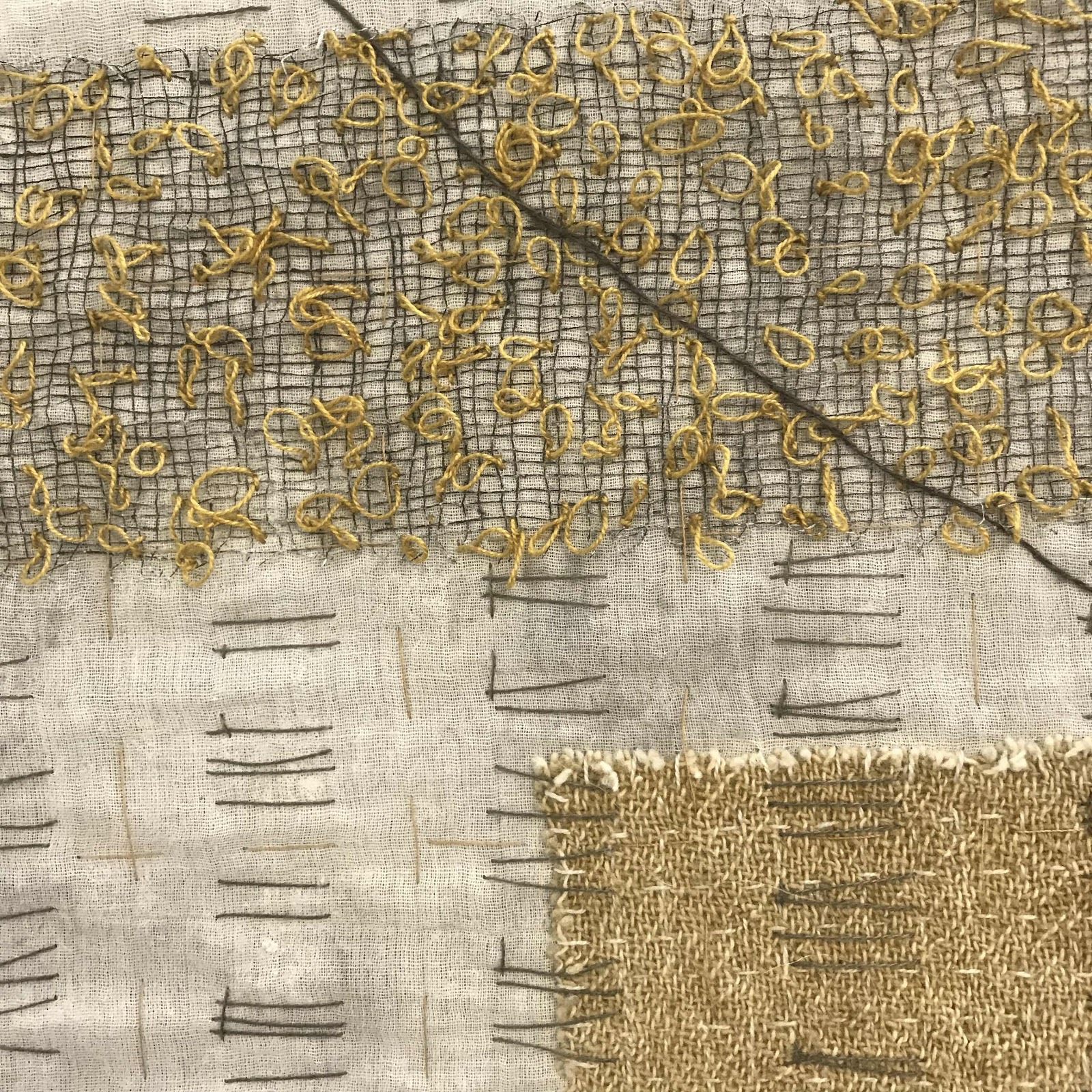 Detail of stitching