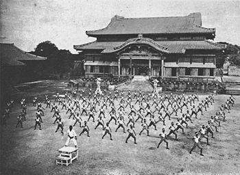 https://upload.wikimedia.org/wikipedia/commons/thumb/4/4b/Karate_ShuriCastle.jpg/350px-Karate_ShuriCastle.jpg