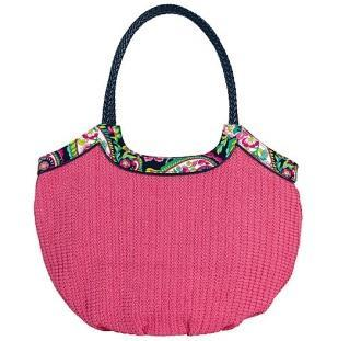 Straw Bucket Tote in Petal Paisley