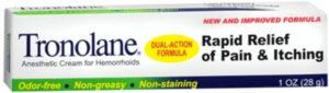 Tronolane Hemorrhoid Cream in hemorrhoid
