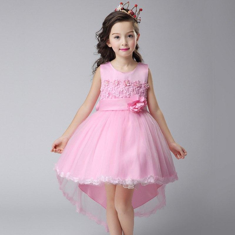Tanie Sukienki Z Koronki Na Wesele Dla Dziecka Dziewczynki W Wieku 10, 11,12 Lat 4
