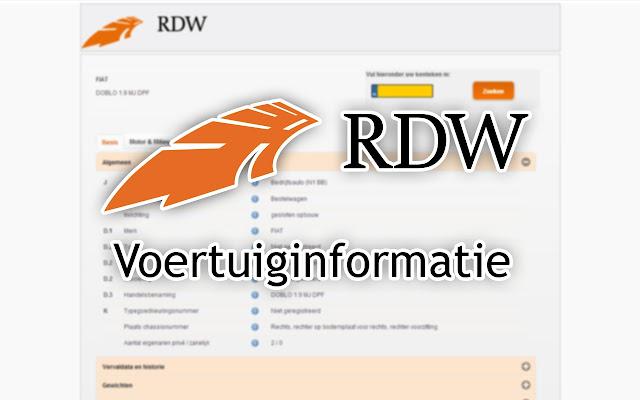 RDW Voertuiginformatie - Chrome Web Store