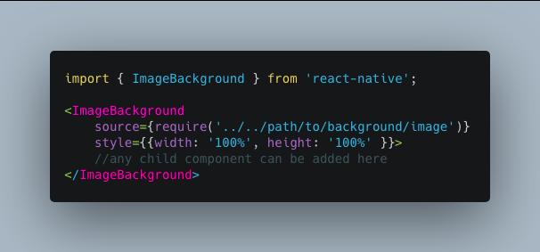 React Native ImageBackground