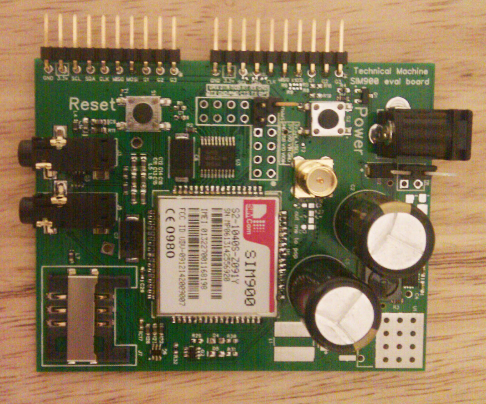 Tessel Blog Plain Copperclad Fibreglass Circuit Board Rapid Online The Capacitors Are Probably A Little Overkill But Its Always Easier To Over Engineer And Remove Pieces Than Go Other Way Around