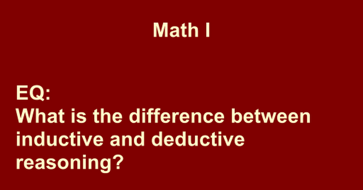 "what is the difference between inductive and deductive reasoning This is ""inductive or deductive two different approaches"", section 23 from the book sociological inquiry principles: qualitative and quantitative methods (v 10."