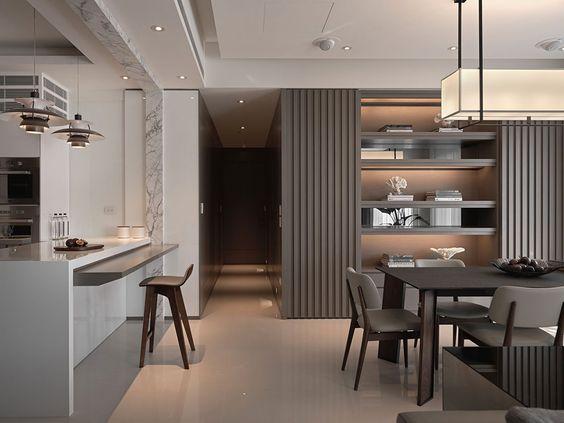 Thiết kế phòng bếp chung cư theo phong cách hiện đại