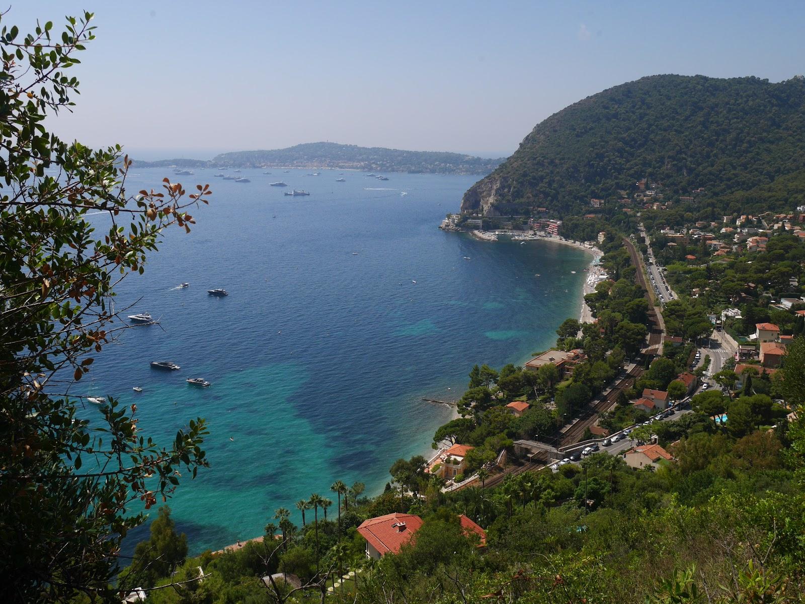 Eze beach/ houses; Côte d'Azur