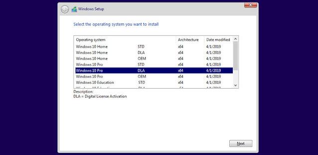 اختيار نوع النسخة 32bit او 64bit