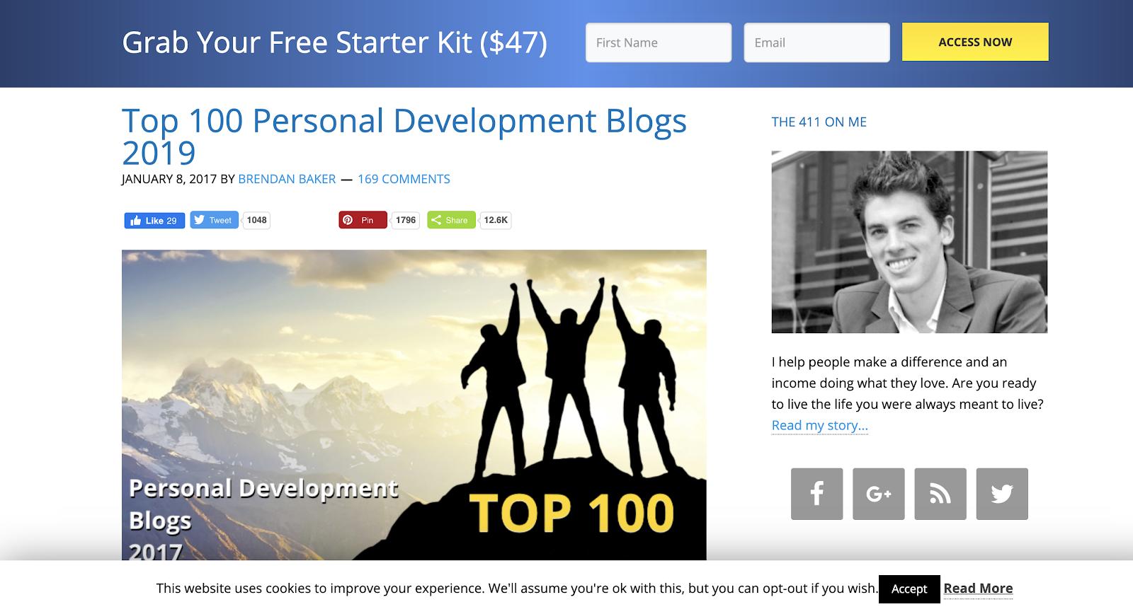 top 100 personal development blogs
