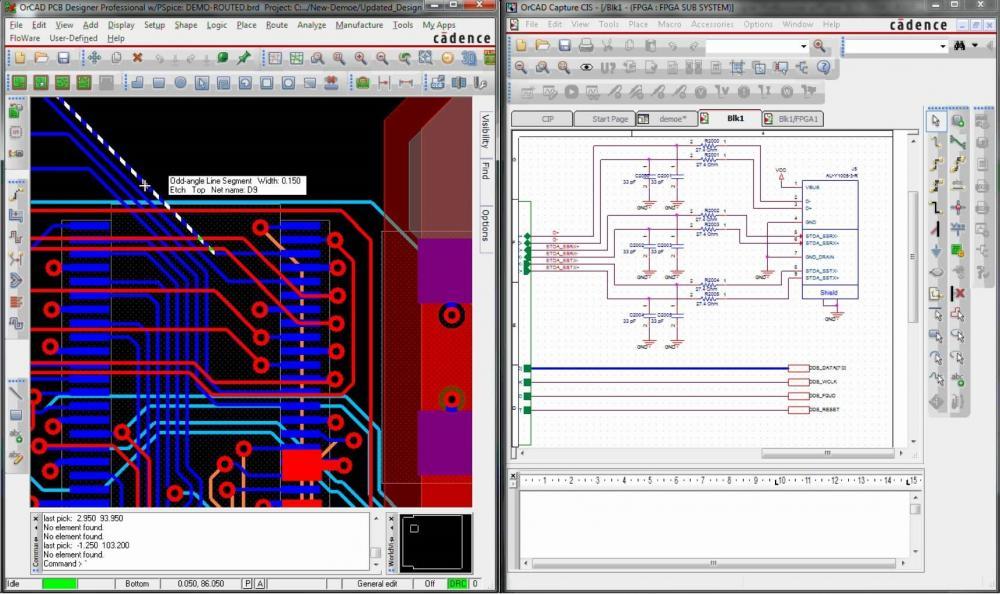 Màn hình làm việc của OrCAD - linh kiện điện tử Vietnic