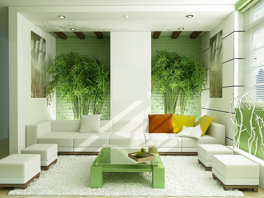 Phòng khách với thiết kế hòa hợp cùng thiên nhiên