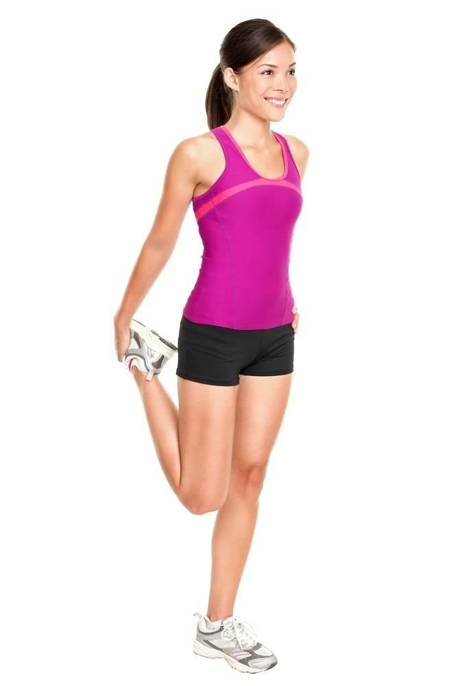 Standing Quad Stretch exercise