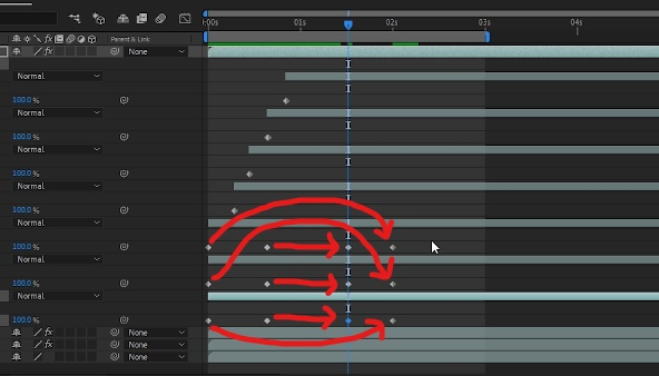 Animate crown back by having all keyframes copied and pasted for ending of crown animation