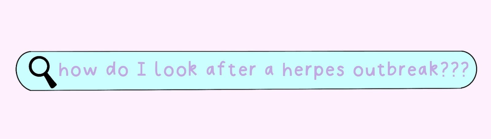 """Search bar reading """"How To Look After A Herpes Outbreak"""""""