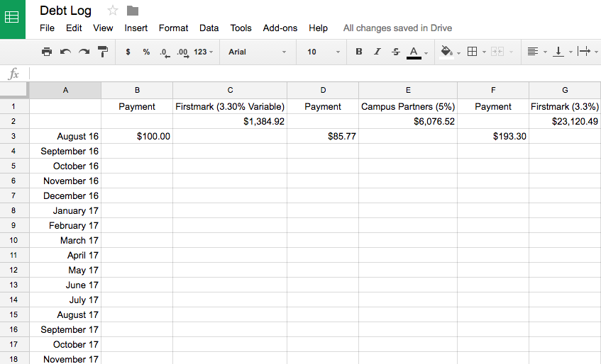 Debt Snowball Spreadsheet How To Make One Today Mr Jamie Griffin