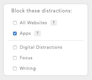 Select the Apps blocklist