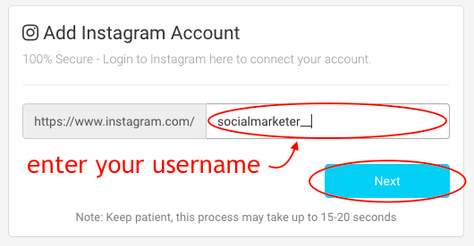 AiSchedul connect to Instagram