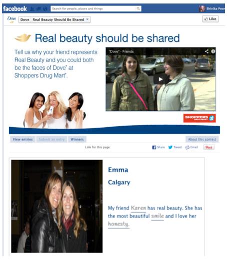 Facebook user generated content